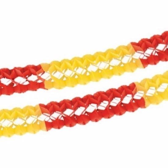 Geen Papieren slinger rood geel 4 meter Feestartikelen diversen