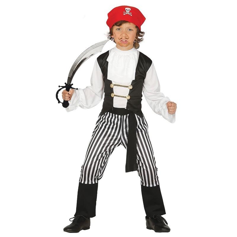 Piraten kostuum maat 110-116 met zwaard voor kinderen