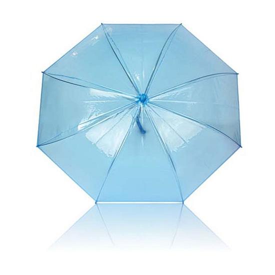 Plastic blauwe paraplu 92 cm