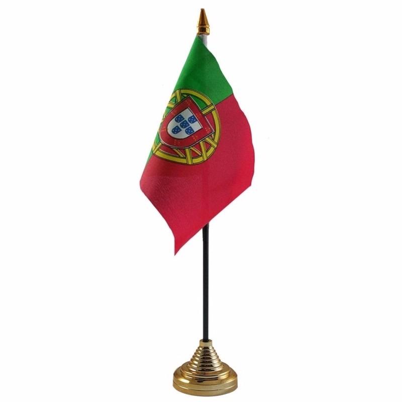 Geen Portugal tafelvlaggetje 10 x 15 cm met standaard Landen versiering en vlaggen