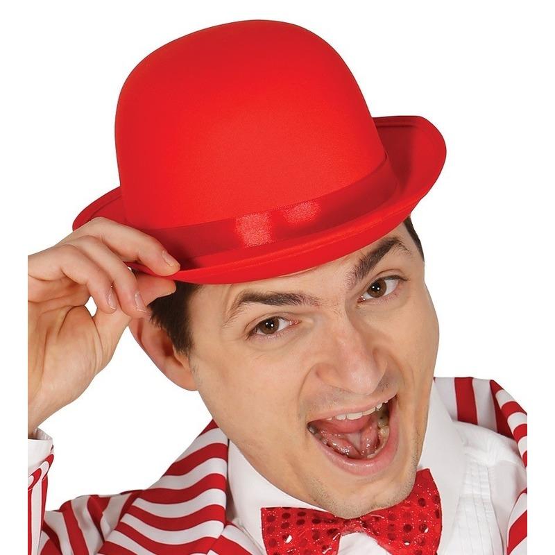 Rode bolhoed/verkleed hoed voor volwassenen