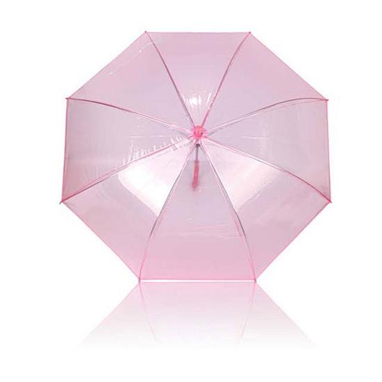 Roze plastic paraplu 92 cm