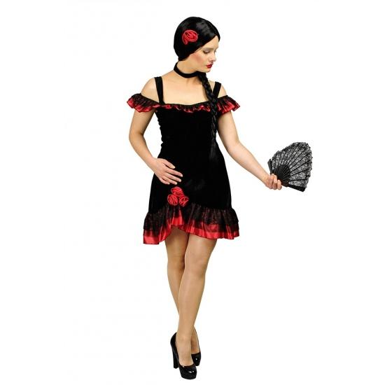 Spaanse flamenco jurk incl. accessoires