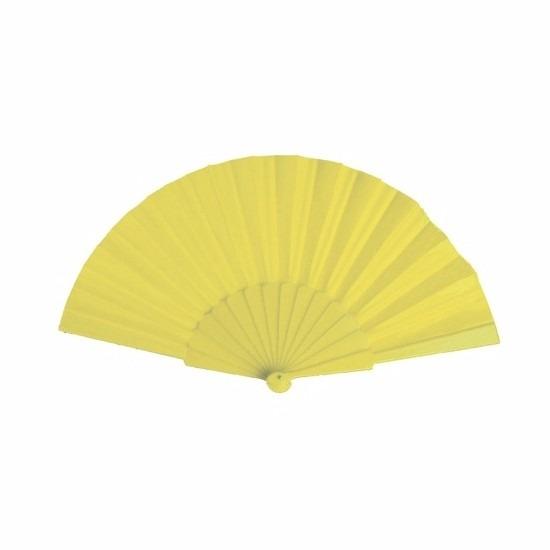 Spaanse Handwaaier geel 23 cm