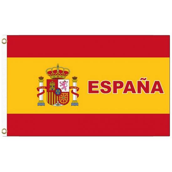 Spanje vlag met tekst Geen Landen versiering en vlaggen