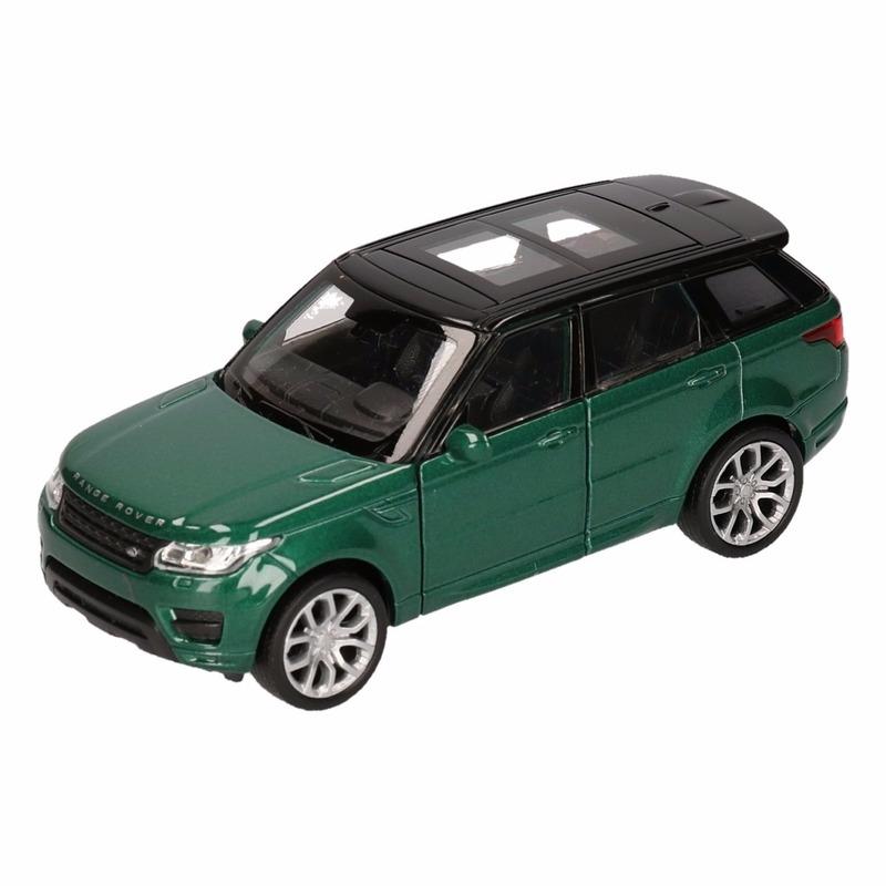 Speelgoed groene Range Rover Sport auto 1:36