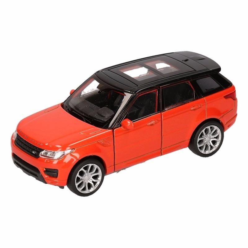 Speelgoed oranje Range Rover Sport auto 1:36