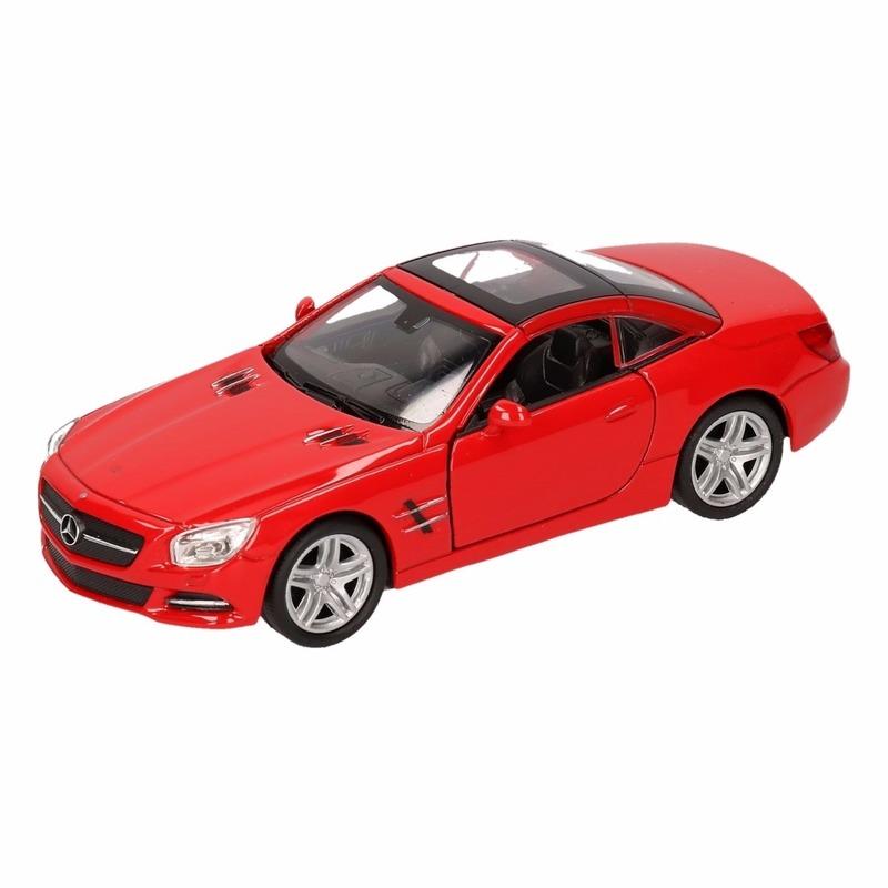 Speelgoed rode Mercedes-Benz SL500 2012 dichte cabrio 1:36