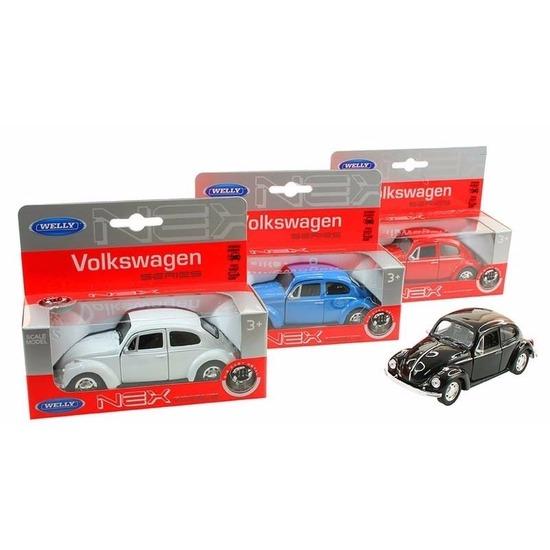 Speelgoed zwarte Volkswagen Kever classic auto 14,5 cm