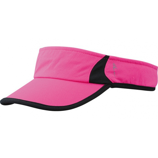 Sportieve zonneklep roze en zwart