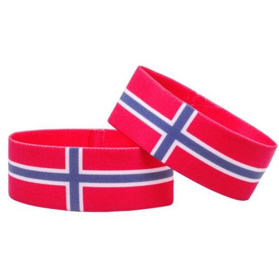 Supporter armband Noorwegen Geen Landen versiering en vlaggen
