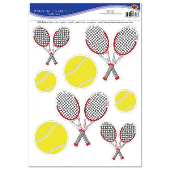 Tennis thema stickervel