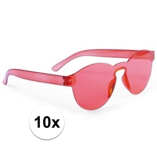 817df1426c316e Toppers - 10x Rode verkleed zonnebrillen voor € 25.00. Bij   pruiken-winkel.nl