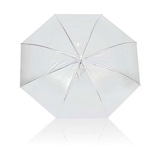 Transparant plastic paraplu 92 cm