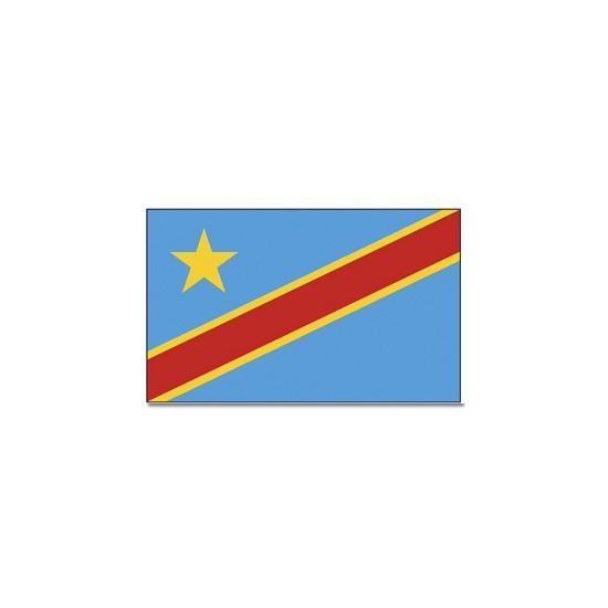 Vlag Congo 90 x 150 cm Geen Landen versiering en vlaggen