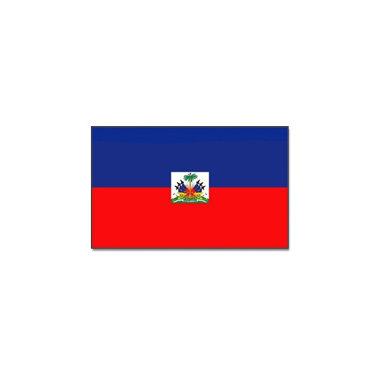Vlag Haiti 90 x 150 cm Geen Landen versiering en vlaggen
