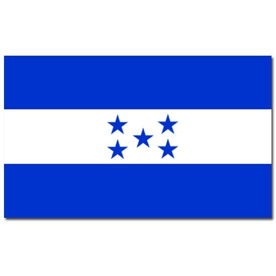 Vlag Honduras 90 x 150 cm Geen Landen versiering en vlaggen