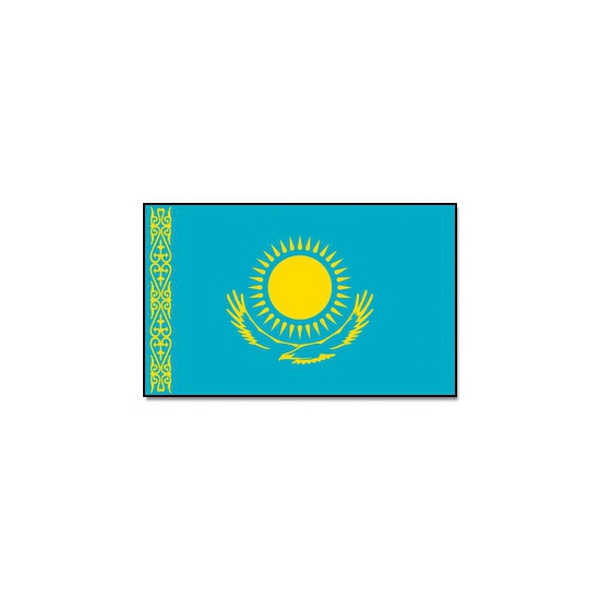 Vlag Kazachstan 90 x 150 cm Geen Schitterend