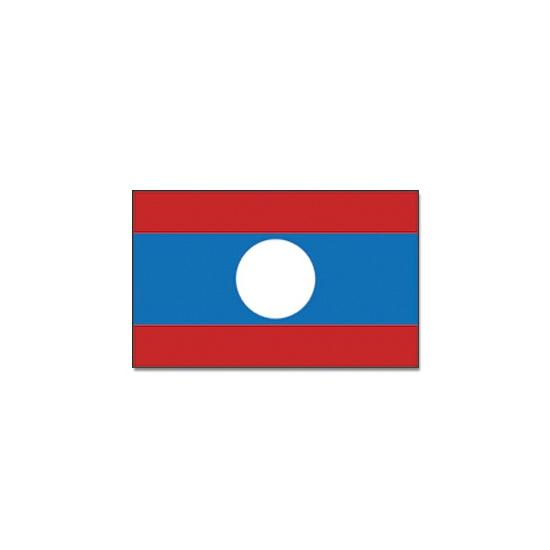 Landen versiering en vlaggen Vlag Laos 90 x 150 cm