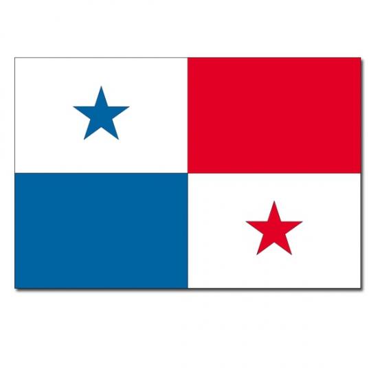 Vlag Panama 90 x 150 cm Geen Landen versiering en vlaggen