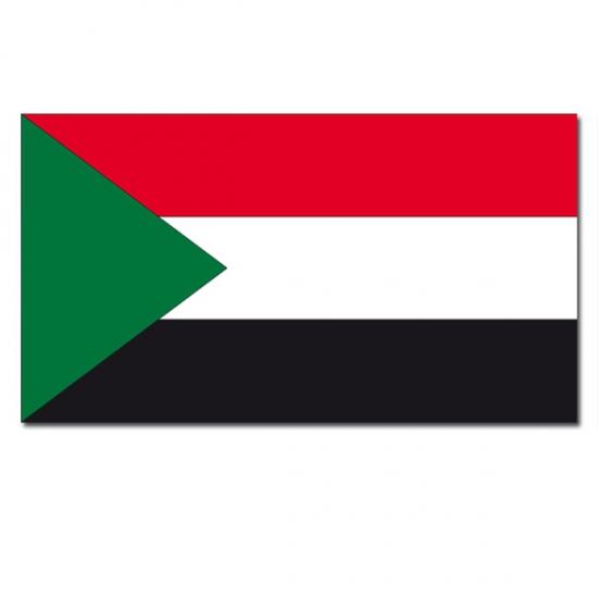 Landen versiering en vlaggen Vlag Soedan 90 x 150