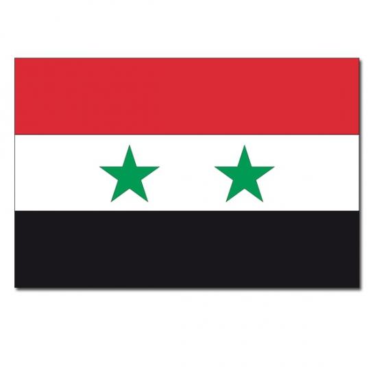 Geen Vlag Syrie 90 x150 cm Landen versiering en vlaggen