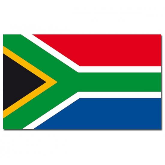 Geen Vlag Zuid Afrika 90 x 150 cm Landen versiering en vlaggen
