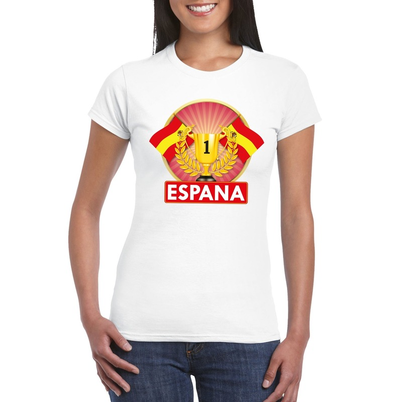Shoppartners Wit Spanje supporter kampioen shirt dames Landen versiering en vlaggen