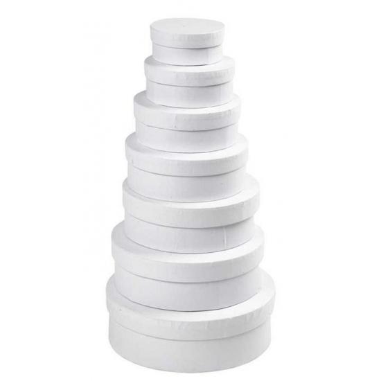 Witte ronde doos 10,5 cm