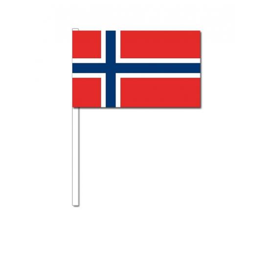 Zwaaivlaggetjes Noorwegen 12 x 24 cm Geen Het leukste