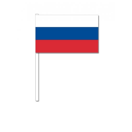 Landen versiering en vlaggen Zwaaivlaggetjes Rusland 12 x 24 cm