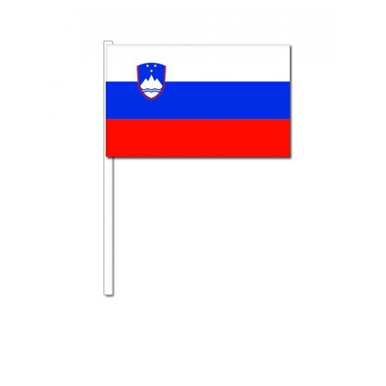 Landen versiering en vlaggen Geen Zwaaivlaggetjes Slovenie 12 x 24 cm