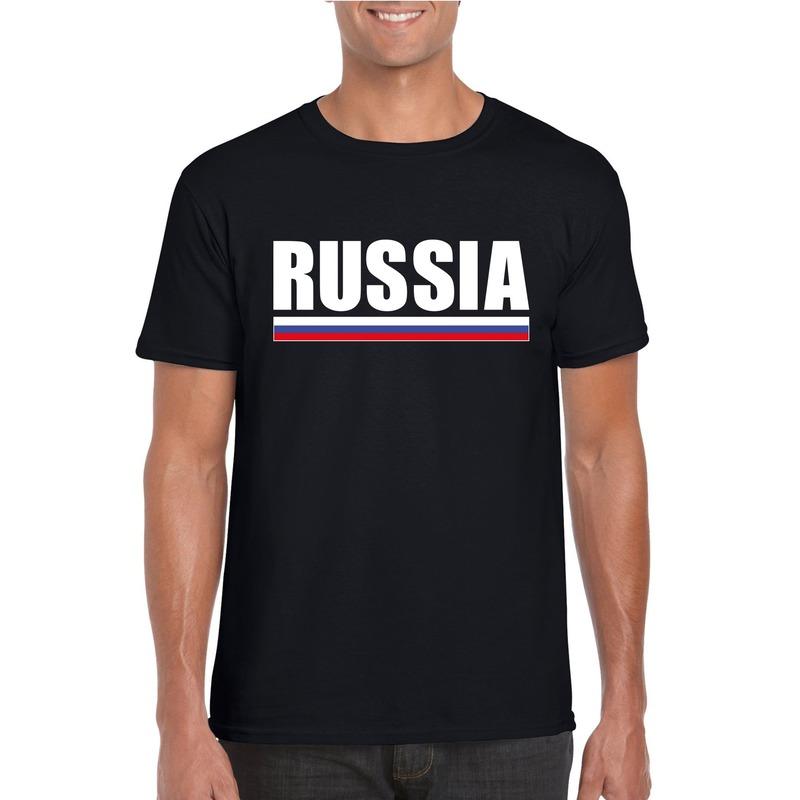 Zwart Rusland supporter t shirt voor heren Shoppartners Premier